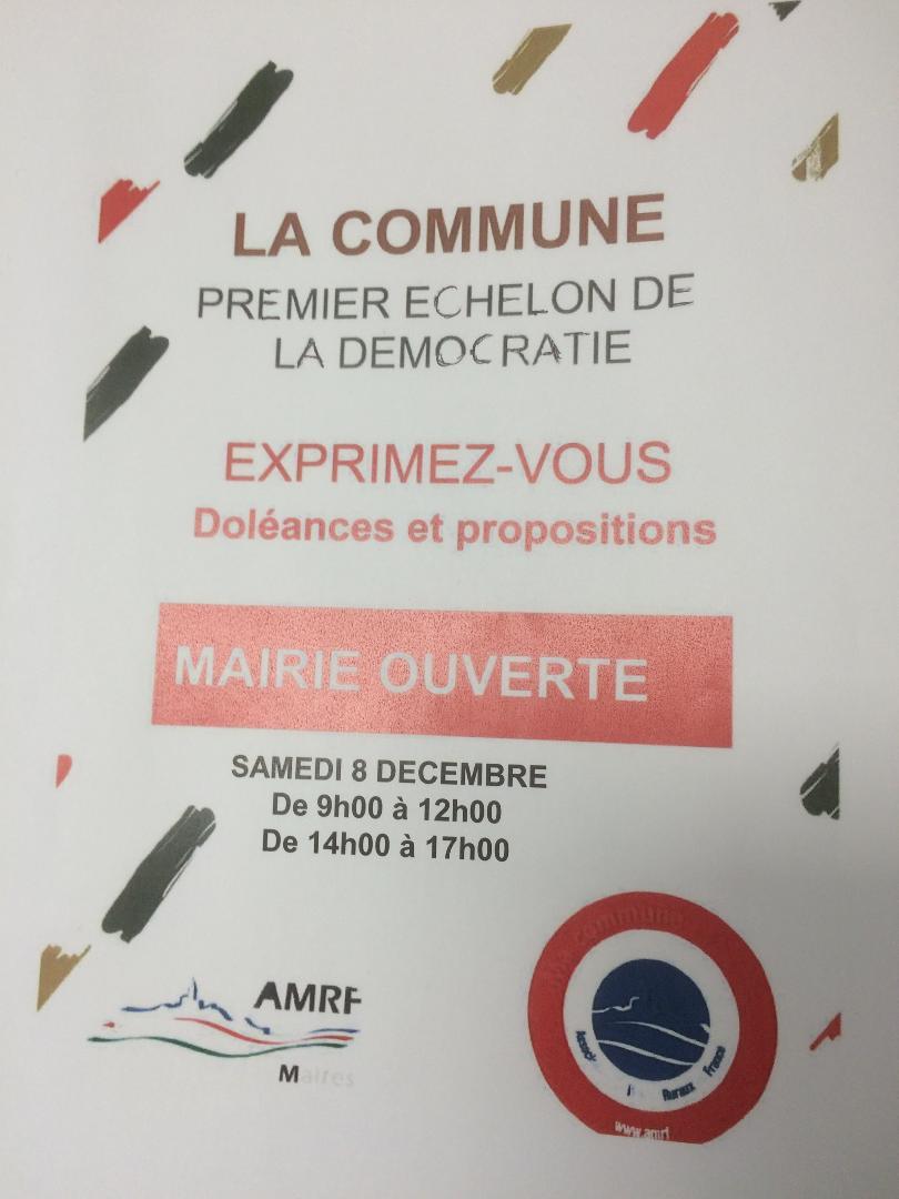 Ouverture exceptionnelle de la mairie le 8 décembre