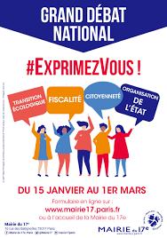 Grand débat National en présence de Mr Philippe Huppé le 11 février à 18h00 salle Léo Ferret à Bédarieux