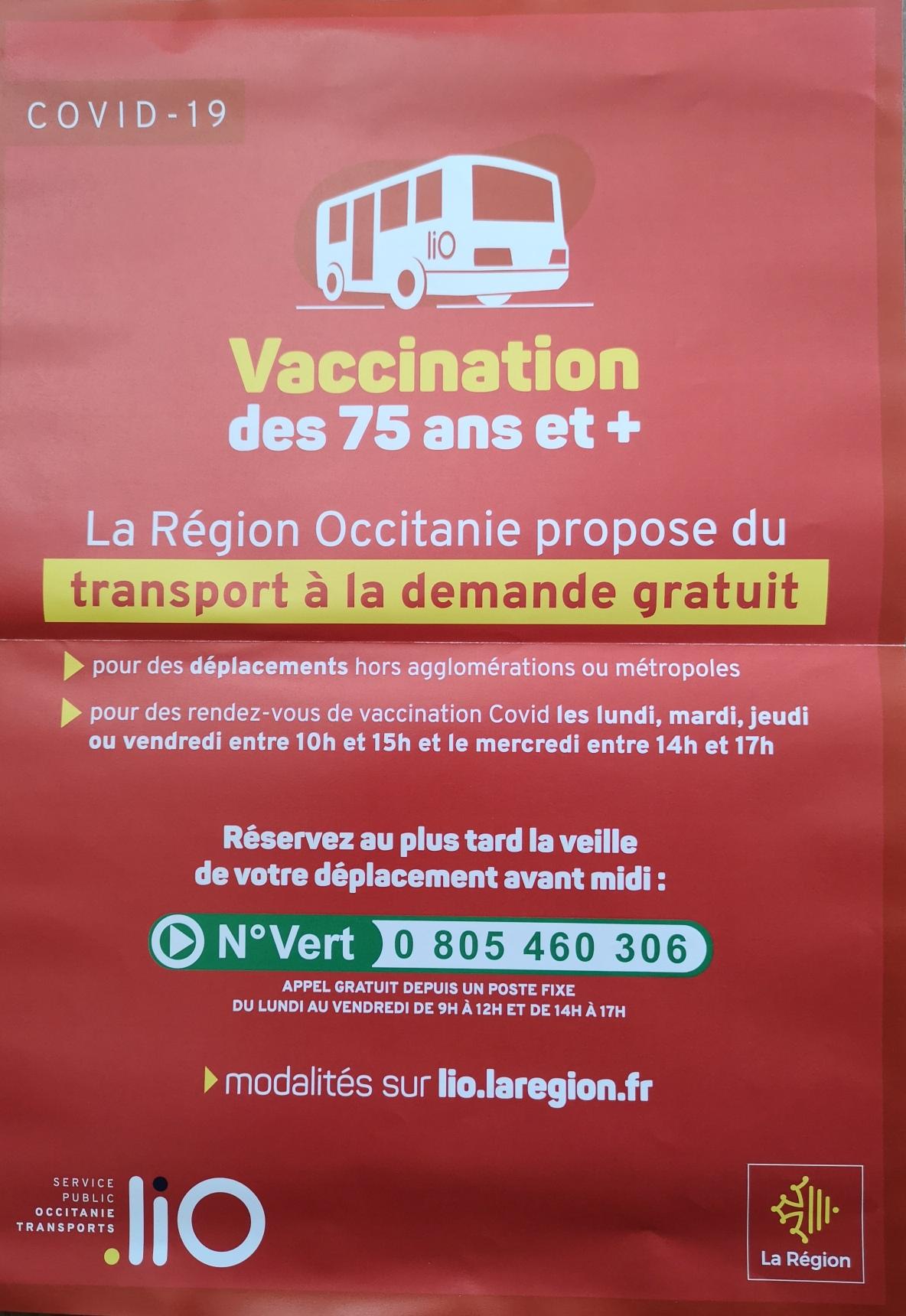 Aide au transport pour la vaccination Covid