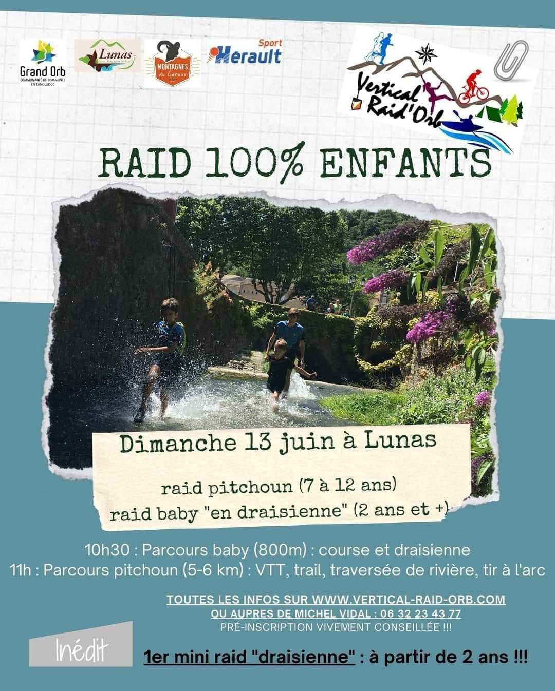 RAID 100% ENFANTS à LUNAS